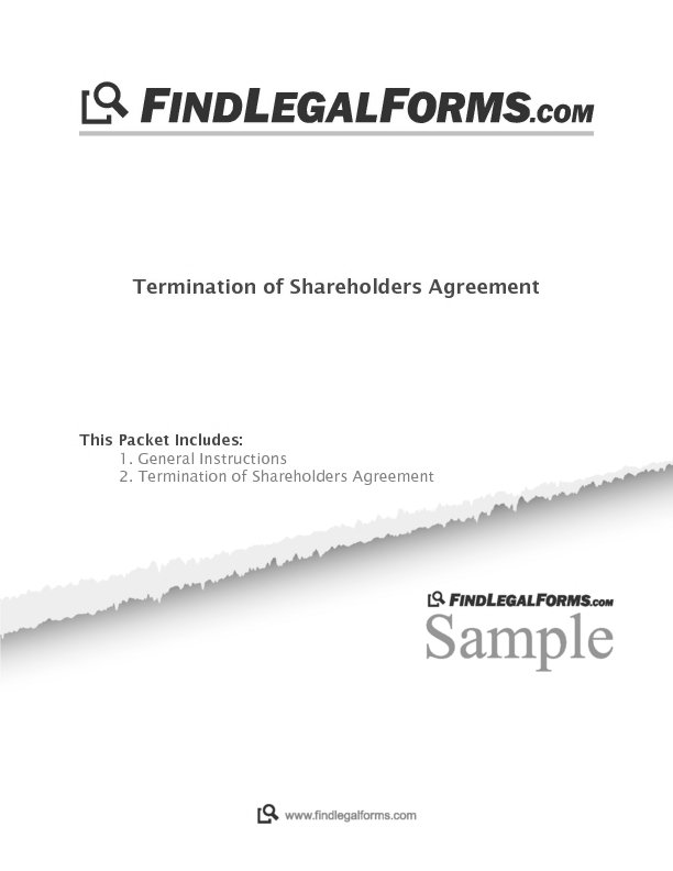 Termination Of Shareholders Agreement Canada Sample