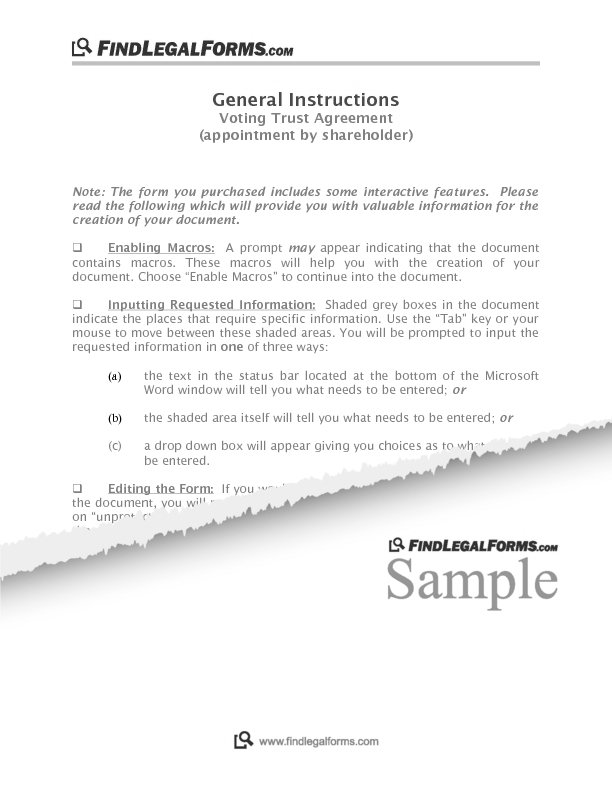 Appointment By Shareholder Canada Sample