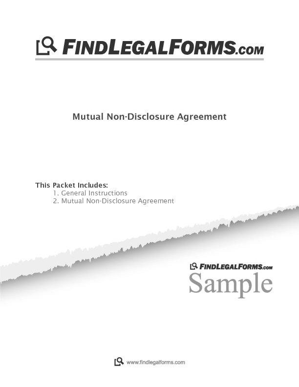 Mutual Non Disclosure Agreement Canada Sample