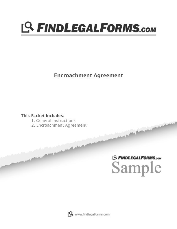 Encroachment Agreement Canada Sample