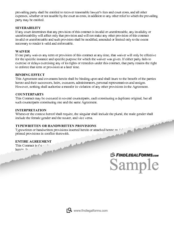 Contract For Deed Canada Sample
