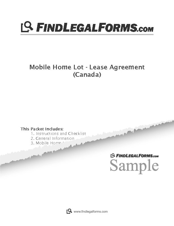 Mobile Home Lot Lease Agreement Canada Sample